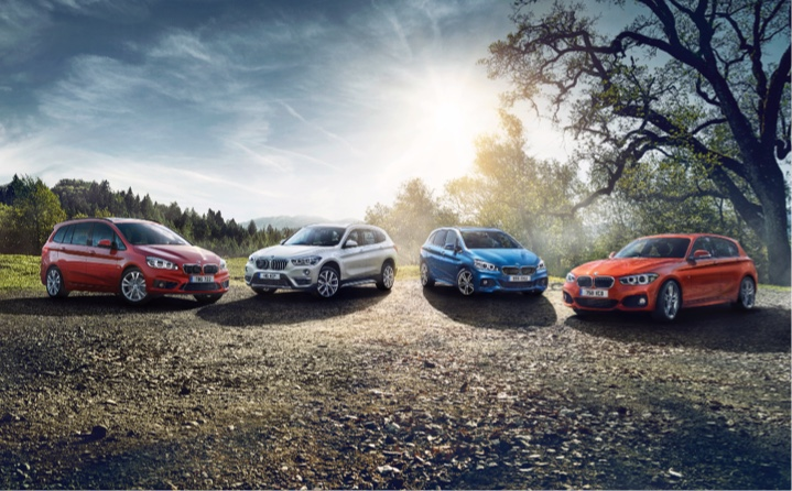 Range of BMW models