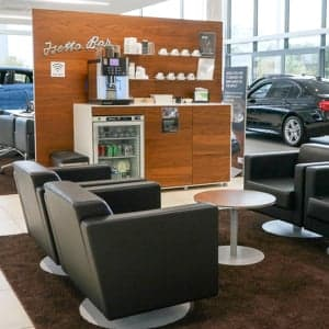 Image of a seating area inside a showroom.